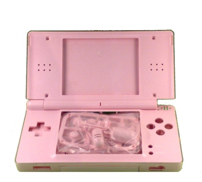 nintendo ds lite replacement shell pink. Black Bedroom Furniture Sets. Home Design Ideas