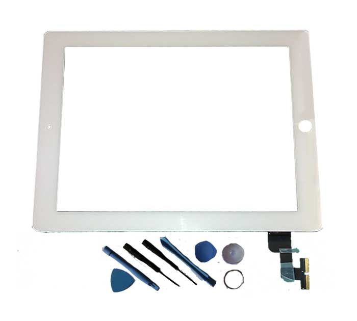 Replacement iPad 2 Touch Screen White, fits WiFi and 3G models